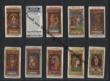Cigarette cards Egyptian Kings Queens 1912 set